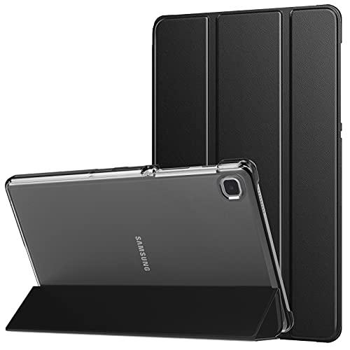 MoKo Schutzhülle Kompatibel mit Galaxy Tab A7 Lite 8,7 Zoll 2021(SM-T225/T220/T227), Transluzente Rückseite Schutzhülle PU Leder Tasche Tablethülle Hülle, Schwarz