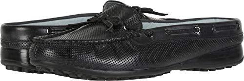 David Tate Womens Stylish Leather Slip On Mules Black 10 Narrow (AA,N)