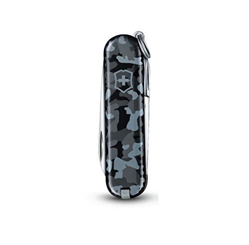 Victorinox Classic SD Taschenmesser, 7 Funktionen, Schere, Nagelfeile mit Nagelreiniger, Navy camouflage