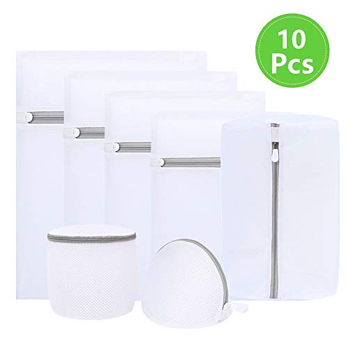 HEPAZ Wäschenetz für Waschmaschine, Wäschesack,Netz-Wäschebeutel,Laundry Bag Ianglebig Für Feine Blusen/Strumpfwaren/Unterwäsche/Dessous,10 Stück