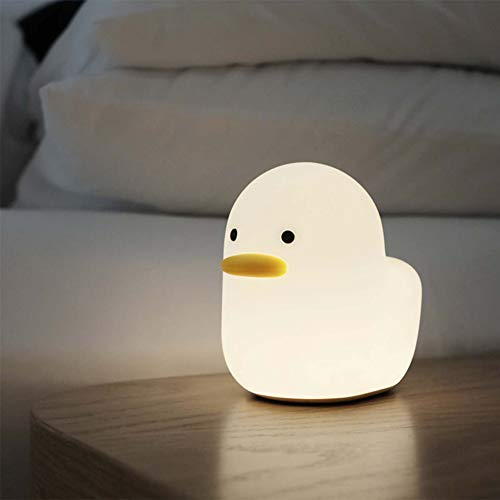 Ipalmay Home Night Lights for Kids USB Rechargeable Lamps , ABS+PC Bedside Lamp for Breastfeeding, Touch Control&Timer Setting, White