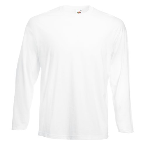 Fruit of the Loom - T-Shirt à manches longues - Homme blanc Bianco S