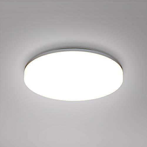 Lampada Pannello LED Plafoniera Grande da Soffitto LED 24W per Bagno Soggiorno Camera da Letto IP54 33CM Diametro 3000K e 4000K e 5000K Regolabile Non Dimmerabile Lot di 1 di Enuotek
