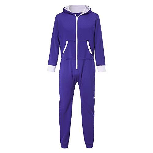 CICIYONER Schlafanzug männer, Herren Unisex Overall EIN Stück Nicht Footed Spielanzug Bluse Outwear
