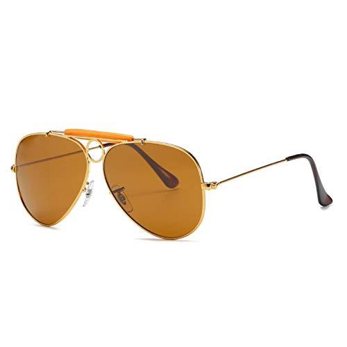 WJJH Gafas de Sol polarizadas de Moda de Vidrio Classic Men's Big Frame Sunglasses Driver Driving Gafas de Sol Saplo Espejo,J1