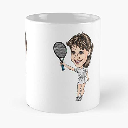 TaftClothing Slam Steffi ATP Icon Wimbledon Sport GRAF Tennis Pro Grand Best 11 oz Kaffeebecher - Nespresso Tassen Kaffee Motive
