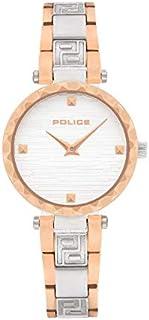 Police Qurem Analogue Silver And Rose Gold Case, Silver Dial And Silver And Rose Gold Watch For Women - PL 15570LSTR-04M