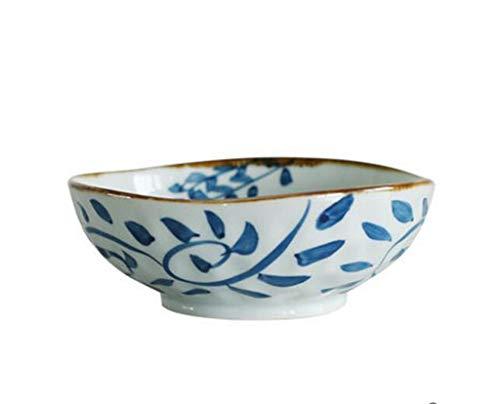 BINGFANG-W Cuencos de cerámica, Plato de Sopa tazón Grande Bowl cerámica Grandes Hogar Cubiertos Japonesa de Estilo Simple Viento Creatividad Esmalte de Aislamiento tazón 16.4x6cm Cocina