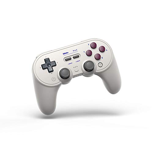 8Bitdo Pro 2 Bluetooth Controller for Switch, PC, macOS, Android, Steam & Raspberry Pi (G Classic Edition)