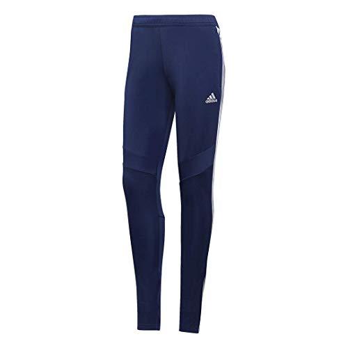adidas Tiro 19 Pantalones de Entrenamiento para Mujer, Mujer, Pantalones, S1906GHTAN103W, Azul Oscuro/Blanco, L