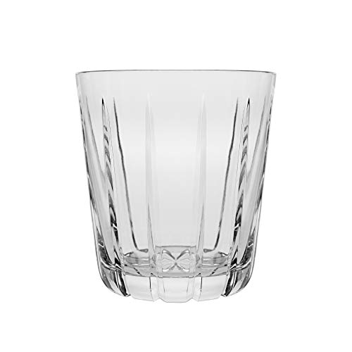 Barski - 6 Stück - mundgeblasen - handgeschnitten - Kristallgläser - DOF - doppelt altmodisch - Whiskey Tumbler - jedes Glas ist 340 ml - Becher ist einzigartig gestaltet - Made in Europe