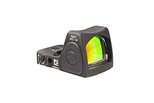 Trijicon RM07-C-700679 RMR Type 2 Adjustable LED Sight, 6.5 MOA Red Dot Reticle, Black