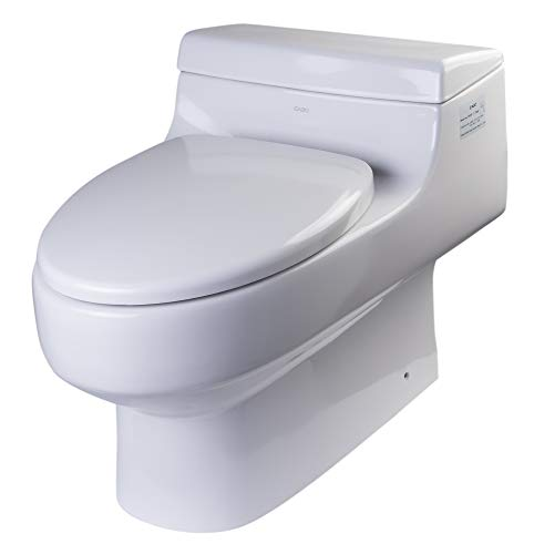 EAGO TB352 Ultra Low Single Flush Eco-Friendly Ceramic Toilet, 1-Piece