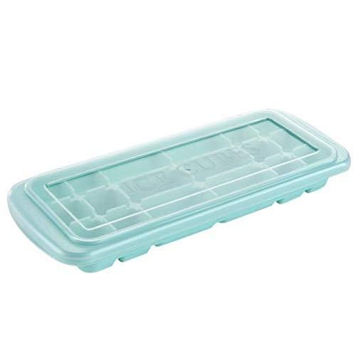 Double Nice Eiswürfelform wiederverwendbar 18 Grids Eiswürfel Zucker Cubed Machen Tray Eiswürfel Box Food Grade Silikon Microwavable Küche Sushi Maker Box eiswürfelform groß (Color : Green)