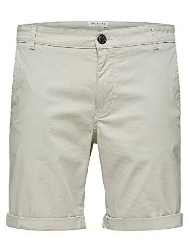 SELECTED HOMME Male Shorts SLHPARIS Regular FIT - LMoonstruck