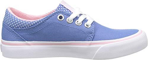 DC Shoes Trase TX Se, Baskets Basses Fille, Bleu Blue White Print, 37 EU