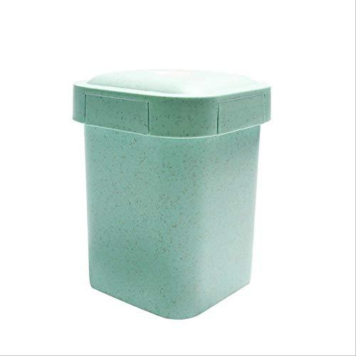 VGZ Gesundes Material Weizenstroh versiegelte Suppenbecher mit Deckel Tragbare Brotdose Mini Bento Box Mikrowelle Getränkebecher für HaferbreiGrün