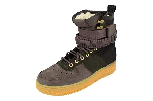 Nike SF AF1 PRM Herren Hi Top Trainers BV0130 Sneakers Schuhe (UK 7 US 8 EU 41, Black Grey 001)