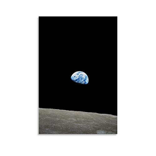 Weltall-Poster, Erdaufgang, Apollo 8, Leinwand-Kunst-Poster und Wandkunstdruck, modernes Familienschlafzimmer, 20 x 30 cm