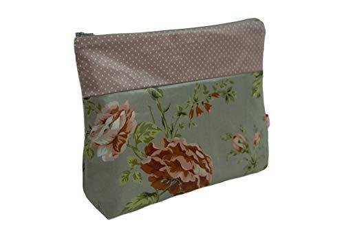 Lilli Löwenherz Kulturtasche Wickeltasche Sophia Grey aus beschichteter Baumwolle