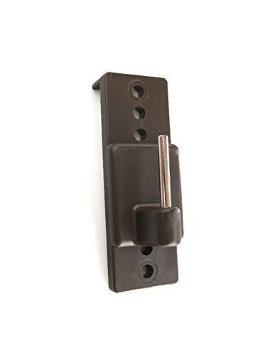 Prodecoshop Scheiben-Gardinenhaken - Gardinenhaken selbstklebend, verstellbar, für Vitragenstangen, braun - 4 Stück