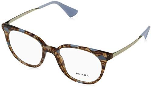 Prada 0PR 13UV Monturas de gafas, Striped Brown/Azure, 48 para Mujer