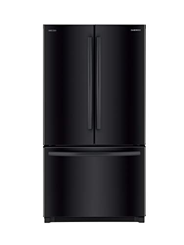Daewoo RFS-26ABB French Door Bottom Mount Refrigerator, 26 Cu Ft, Black, includes delivery and hookup