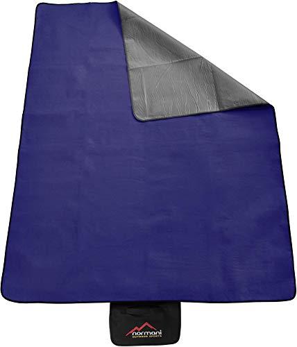 normani Outdoor Campingdecke Fleece mit Tragegriff wasserdicht isoliert Farbe Navy