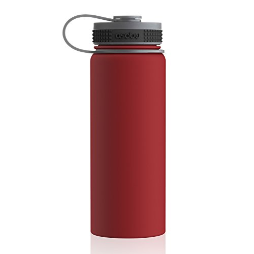 Asobu Alpine Flask Stainless Steel Insulated Thermos Water Bottle/Beer Growler 18oz 100% BPA (Red)