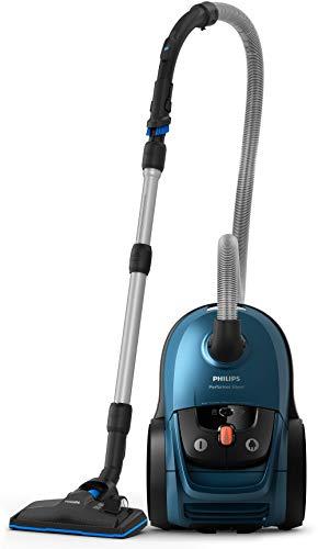 Philips Staubsauger mit Beutel FC8783/09 Performer Silent (750 Watt, 4 L Staubbeutelvolumen, 66dB für leises Saugen, ideal für Allergiker) blau