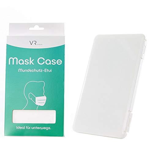 Premium Maskenbox/Masken Etui zur hygienischen Masken Aufbewahrung - für nahezu alle Atem- und Mundschutzmasken geeignet - Ideal für Unterwegs - auf Reisen, bei Großveranstaltungen, fürs Auto