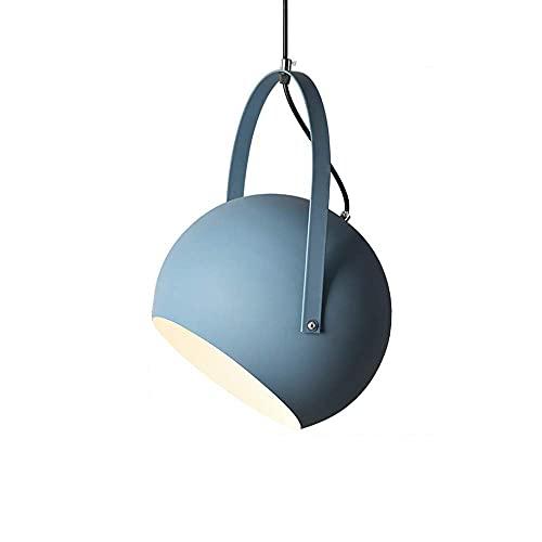 WQERLC Lámpara de Araña, Luz de Techo, Luz Colgante Del Techo de la Cama, E27 Base Colgante Light Light Light,Azul Marino,20 Centímetros