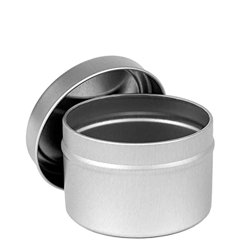 Color-Your-Own DIY Candle Tins with Lids Bulk - 16 Metal Candle Tins for Making Candles & 8 Coloring Tools - 2 oz, 4 oz, 6 oz & 8 oz Candle Tins - for Arts & Crafts, Storage & Homemade Candles