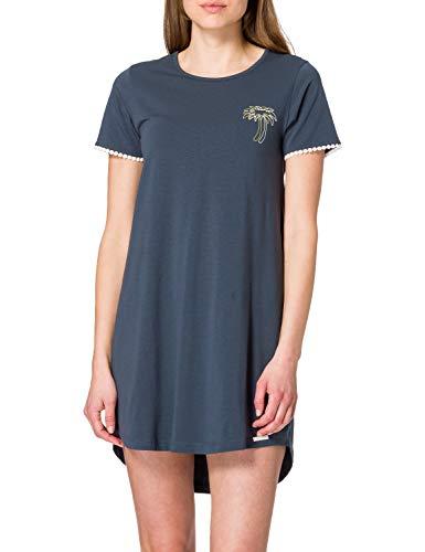 Skiny Damen Sleepshirt Kurzarm Nachthemd, Midnight Navy, 40
