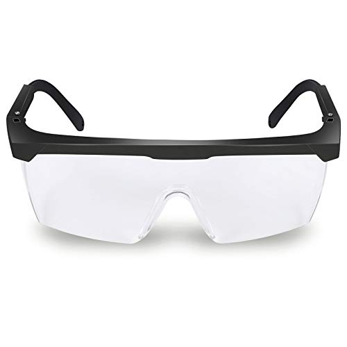 Occhiali di Sicurezza, Occhiali protettivi di sicurezza, Protezione Anti-spruzzo Anti-Nebbia Contro la Polvere Anti-Vento UV Occhiali Trasparenti Protezione degli Occhi da Lavoro