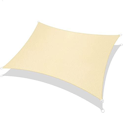 RATEL Tenda a Vela Rettangolo Sabbia 2 × 3 Metri, Tende da Sole Impermeabile, Protezione Raggi 95% UV Vela Parasole Ombreggiante, Adatto per Esterni, Terrazza, Giardino, Prato…