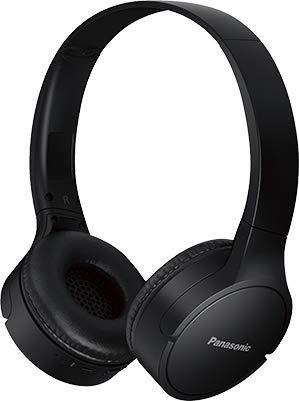 Panasonic RB-HF420BPUK, audifonos Bluetooth Tipo Diadema (on-Ear), Color Negro, Funcion Manos Libres/microfono, 50 Horas de reproduccion Continua, Driver 30mm, ultralivianos