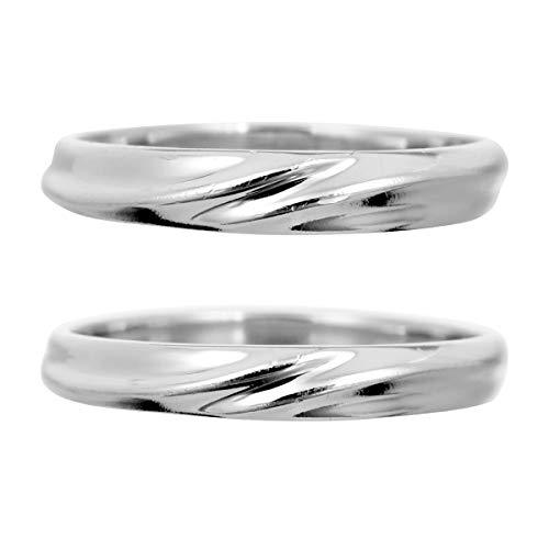 [ココカル]cococaru ペアリング 2本セット K10 ホワイトゴールド マリッジリング 結婚指輪 日本製 (レディースサイズ8号 メンズサイズ19号)