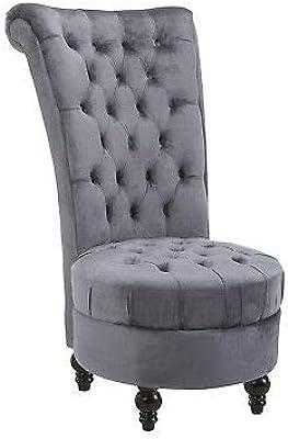 Amazon.com: HOMCOM Retro High Back Armless Chair Living Room ...