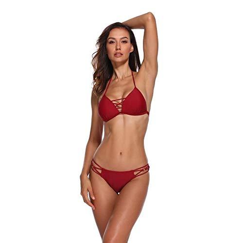 FUBA.VI Set Costume da Bagno Bikini Donna Costumi da Bagno Push-up Sexy con Canotta Senza Spalline Bandeau Brasiliano Due Pezzi Alta Plus Size