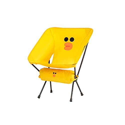 WXIANG Faltstuhl Folding Camping Stuhl Cartoons Outdoor Campingstuhl Kompakt Tragbare Klappstühle für Camping Wanderung Gartenarbeit Reisen Tragbar (Color : Yellow)