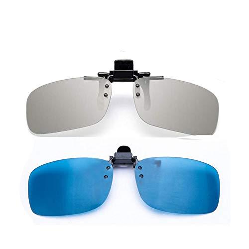 YEK Clip on 3D Glasses for RealD & IMAX3D Unisex Adult 2 Pack