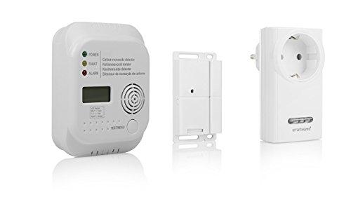 Smartwares Funk-Abluftsteuerung für Dunstabzugshaube + Kohlenmonoxid / CO Melder