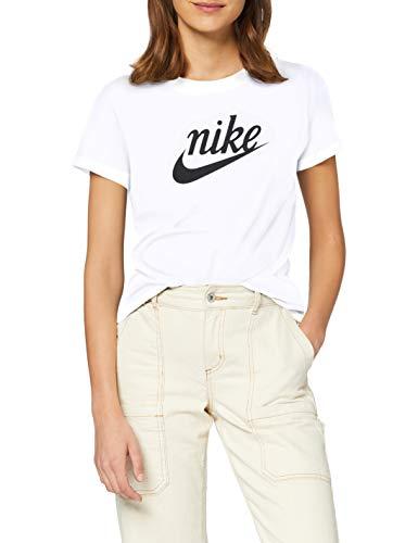 NIKE W NSW tee Varsity Camiseta de Manga Corta, Mujer, White/(Off Noir), XS
