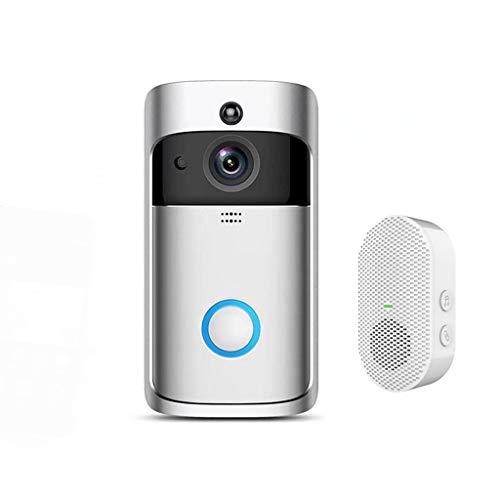 DAGONGREN Cámara de Timbre Inteligente 720P WiFi Intercomunicador de Llamada inalámbrica Video-Eye para Timbre de Puerta de apartamento Anillo para teléfono Cámara de Seguridad para el hogar