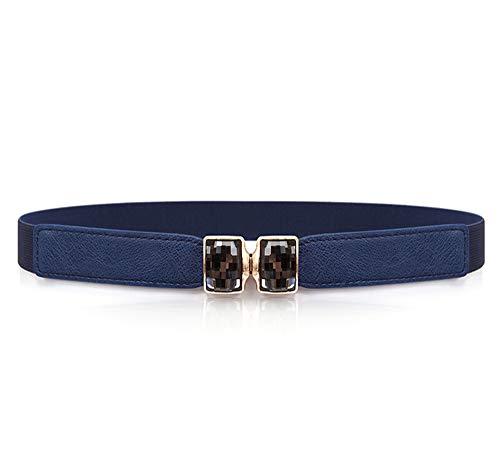Diamonds Belt Women for Dress, Elastic Vintage Belt Dress Dress, Basic Stretchy Elastic Wide Waist Belt…