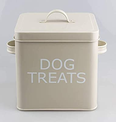 Vintage Retro Style Dog Treats Tin Box with Lid