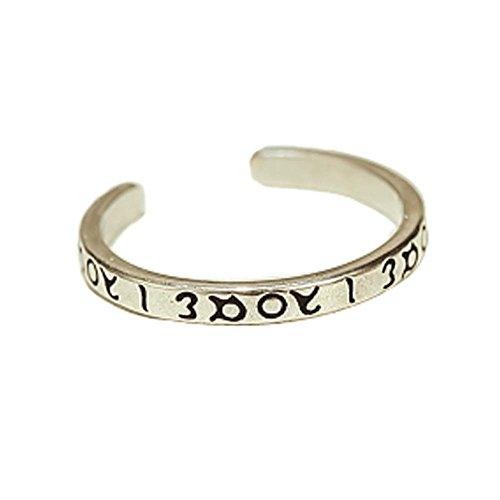 Bague Accessoires Rétro Bague Fashion Silver Ring Tail simple anneau d'ouverture
