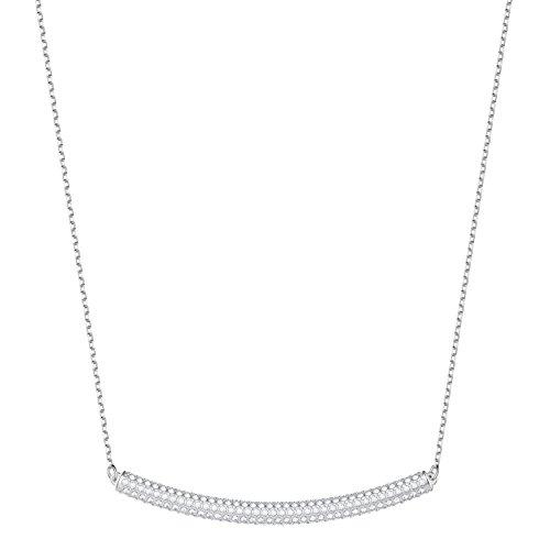 Swarovski Stone Halsband, Weiss, rhodiniert