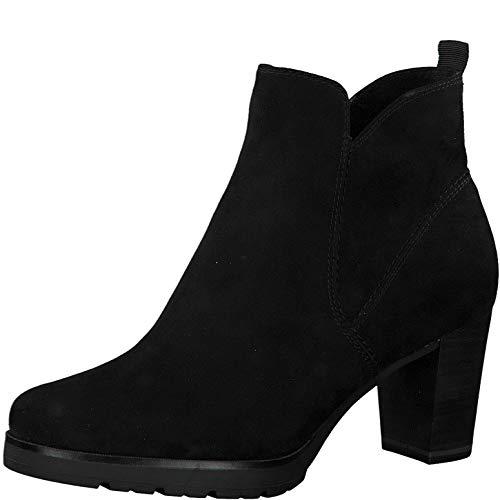 Tamaris Damen Stiefeletten, Frauen Ankle Boots, knöchelhoch reißverschluss weiblich Lady Ladies Women's Women Woman Business,Black,40 EU / 6.5 UK